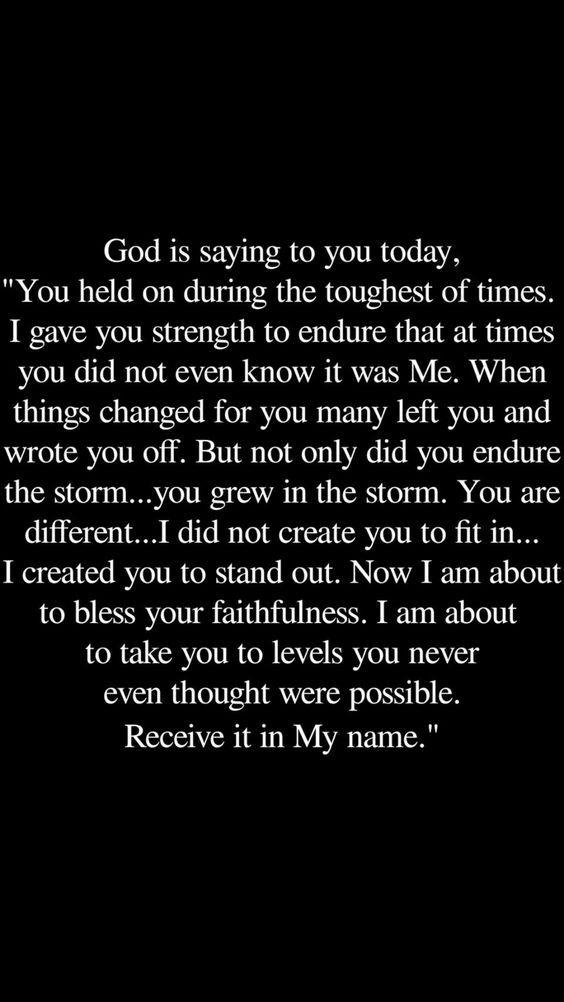 God blesses faithfulness