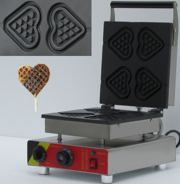 158.00$  Buy now - http://alilye.worldwells.pw/go.php?t=32427993787 - commercial heart shape waffle maker  machine for sale,  belgian waffle maker