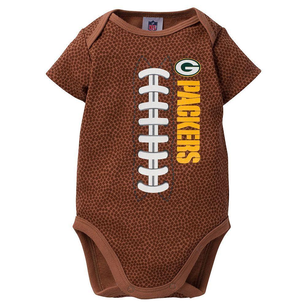Baby Green Bay Packers Football Bodysuit Packers Baby Football Onesie Packers Football