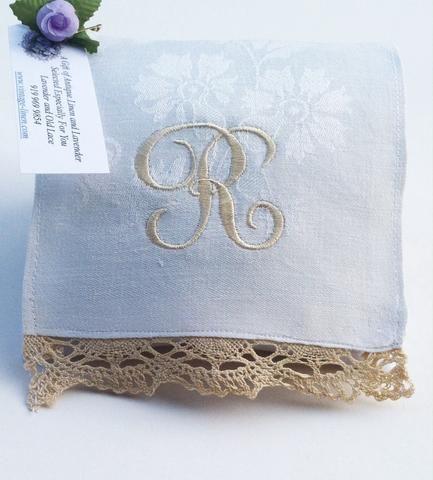 Monogrammed Lavender Sachets