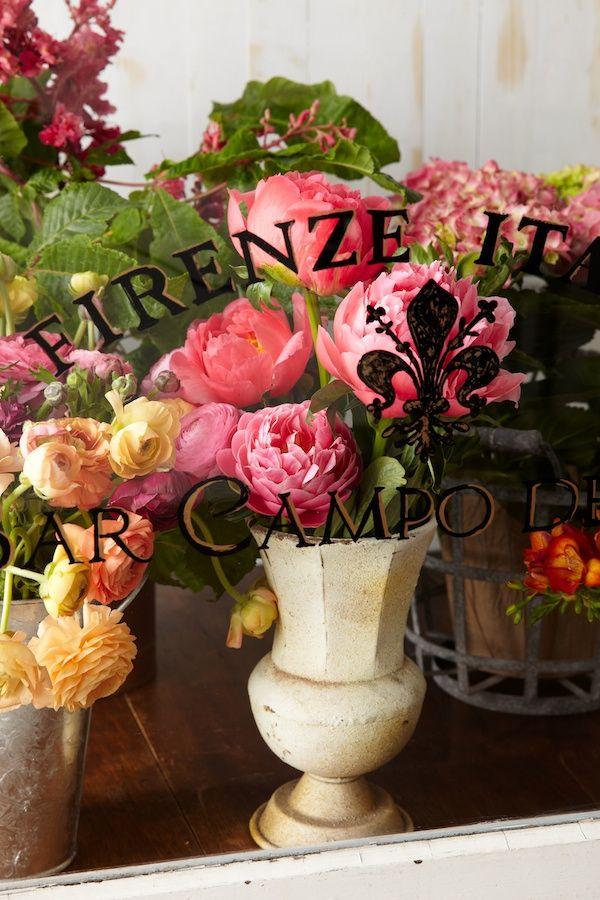 Wouldnt it be cool to set up a faux florist display case in your home??? Floral Window   Naked Bouquet