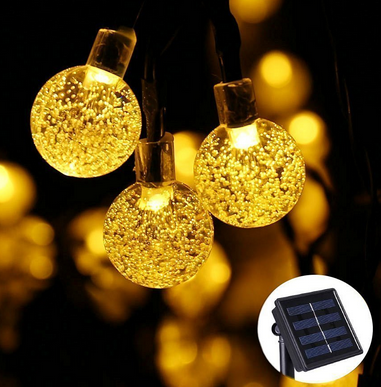 Solar globe string lights outdoor string lights outdoor globe qedertek globe ball solar string light 30 led fairy bubble crystal lights warm white image 1 of 8 aloadofball Image collections
