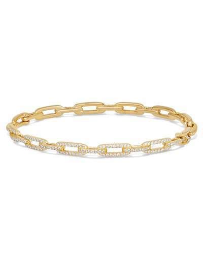 David Yurman 18kt yellow gold Stax faceted diamond bangle - Metallic sGV1hTR