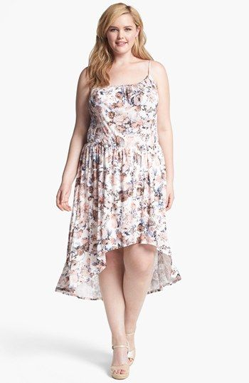 loveappella print high/low dress (plus size) available at