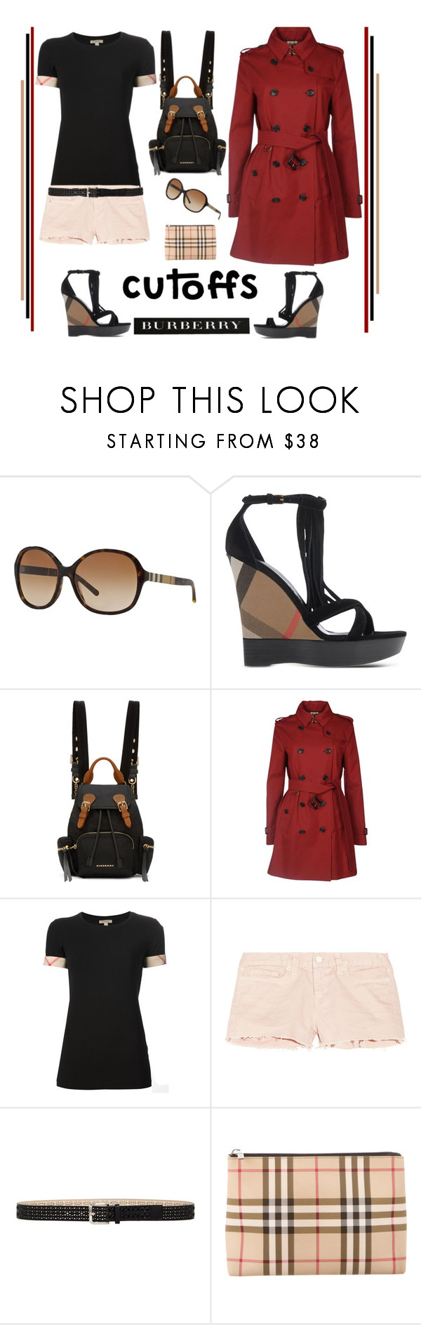"""The Final Cut: Denim Shorts'"" by dianefantasy ❤ liked on Polyvore featuring Burberry, J Brand and Steve Madden"