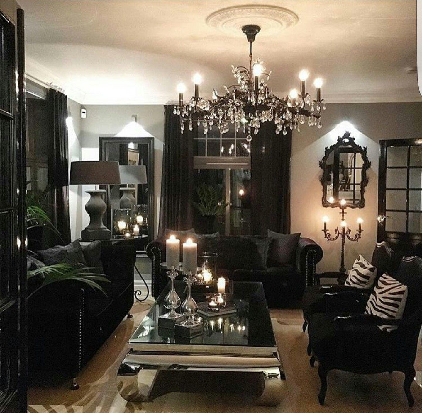 Luxury Homes Interior Decoration Living Room Designs Ideas: Black Living Room, Living Room Designs