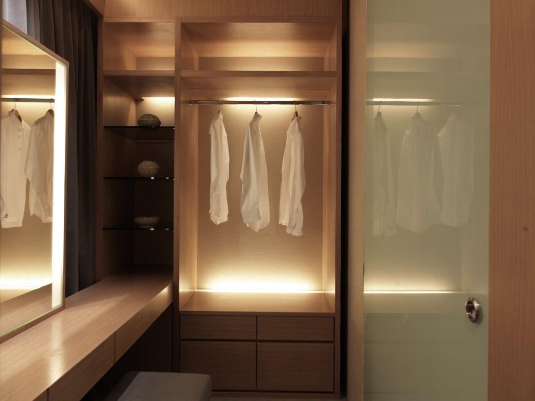 Home Design and Decorating Ideas  Glass shelves, Closet lighting