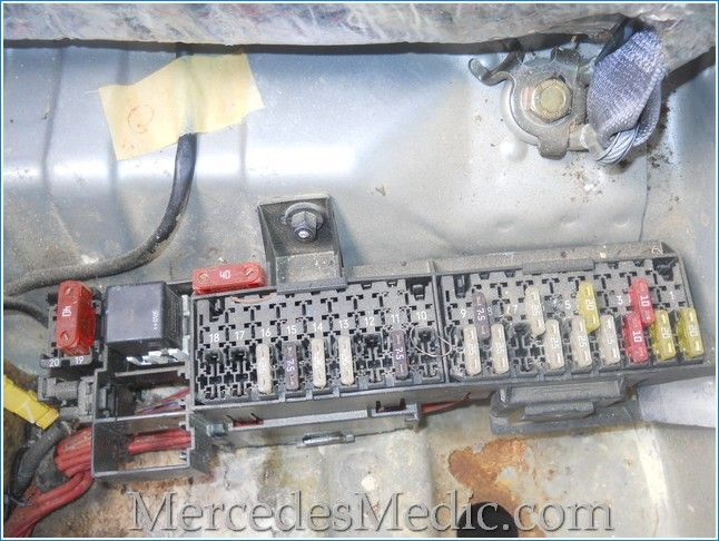 e3b7a3c695db59dca46b5cc77ea337b7 fuses on mercedes benz e class w210 are located in several C-Class Mercedes-Benz Auxiliary Fuse Box at nearapp.co