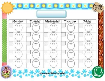 Letter d worksheets behaviour chart worksheets and for Smiley face behavior chart template