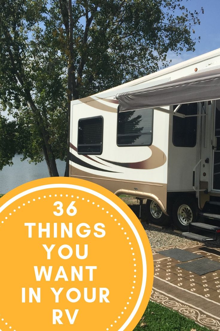 36 Things You Want in Your RV before leaving home Rv