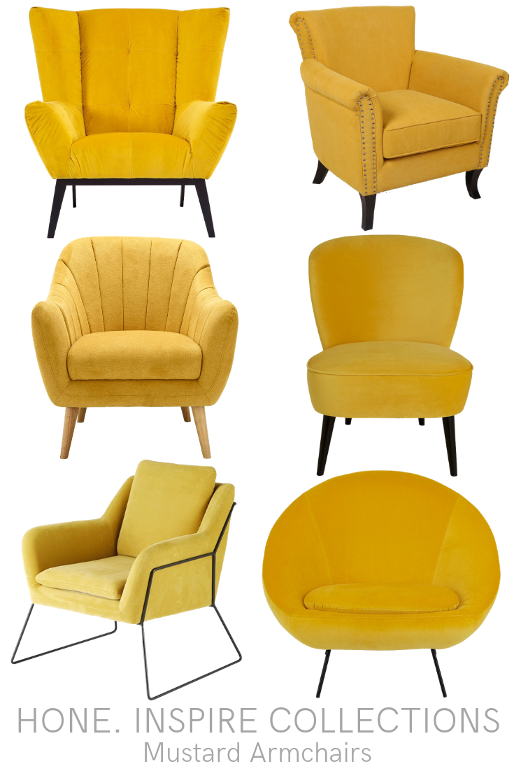 Mustard Armchairs Arm Chairs Living Room Yellow Armchair