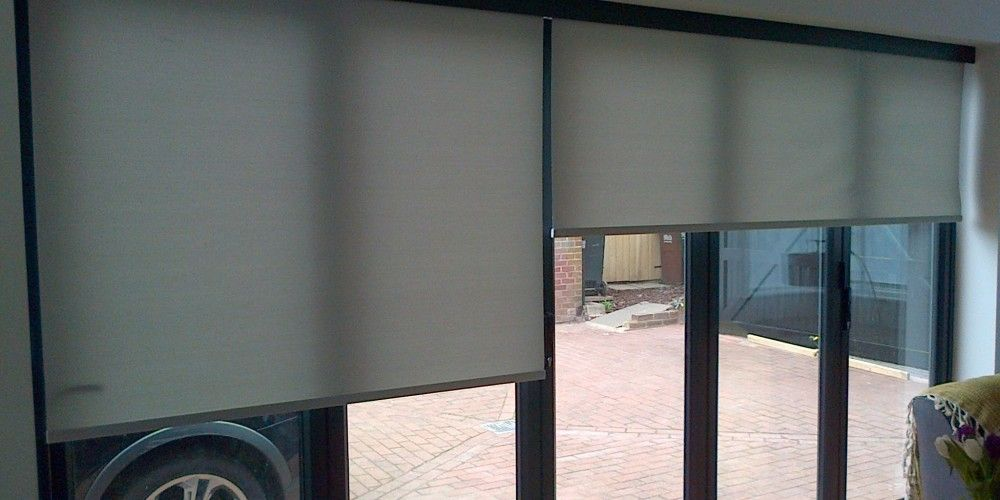 Image result for roller blind wide bifold doors blinds Pinterest