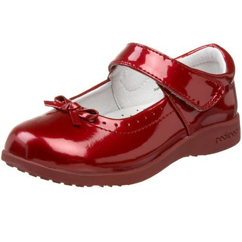 pediped Flex Isabella Mary Jane (Toddler/Little Kid),Red,24 EU ...