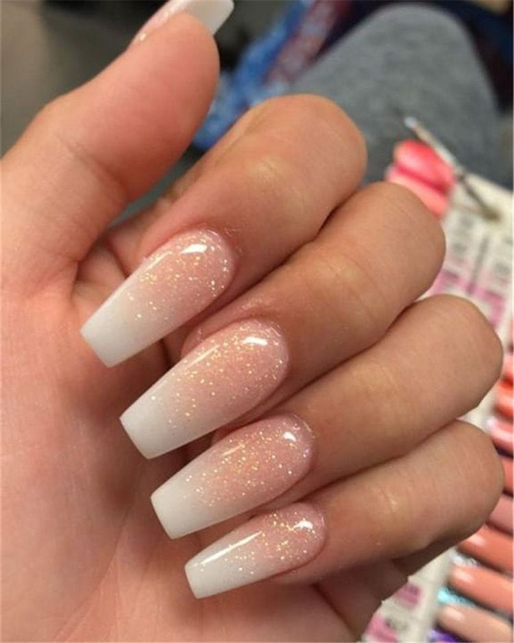 40 Stylish Natural Nail Ideas And Designs For Summer In 2019 Nails Design With Rhinestones Nail Colors Winter Romantic Nails