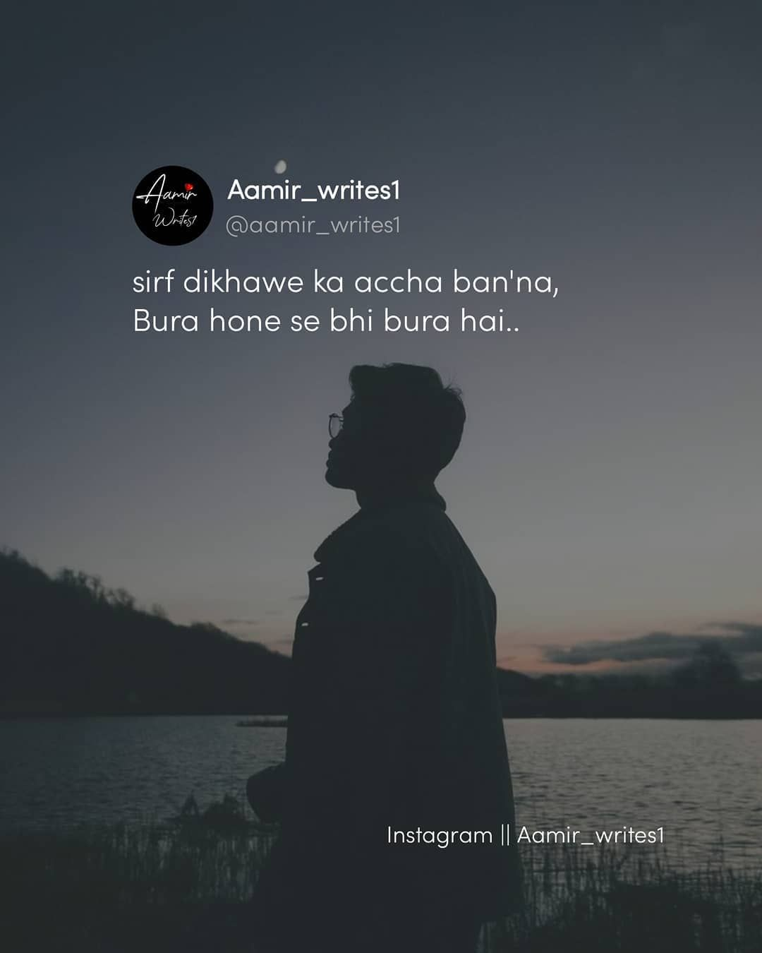 "Shayari & Quotes on Instagram: ""Follow @aamir_writes1 ..."