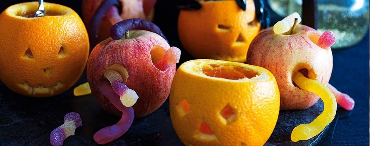 Jack-o\u0027-Lantern orange jellies  \u0027rotten\u0027 apples Recipe - asda halloween decorations