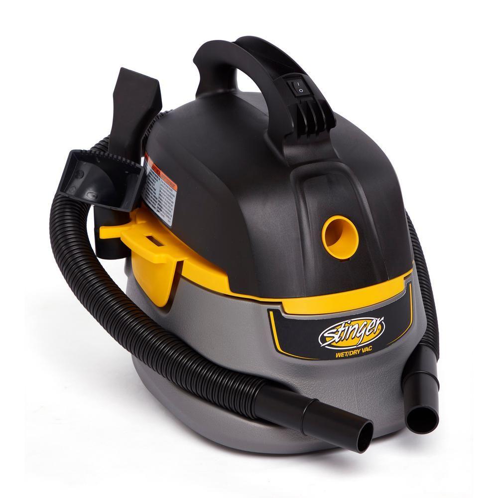 Stinger 2.5 Gal. 1.75Peak HP Compact Wet/Dry Shop Vacuum