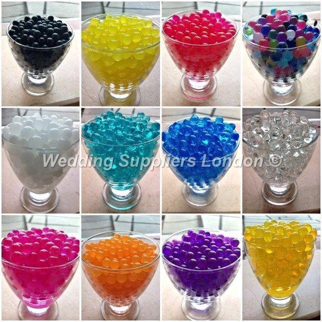Water Aqua Soil Crystal Bio Gel Ball Beads Wedding Vase Filler