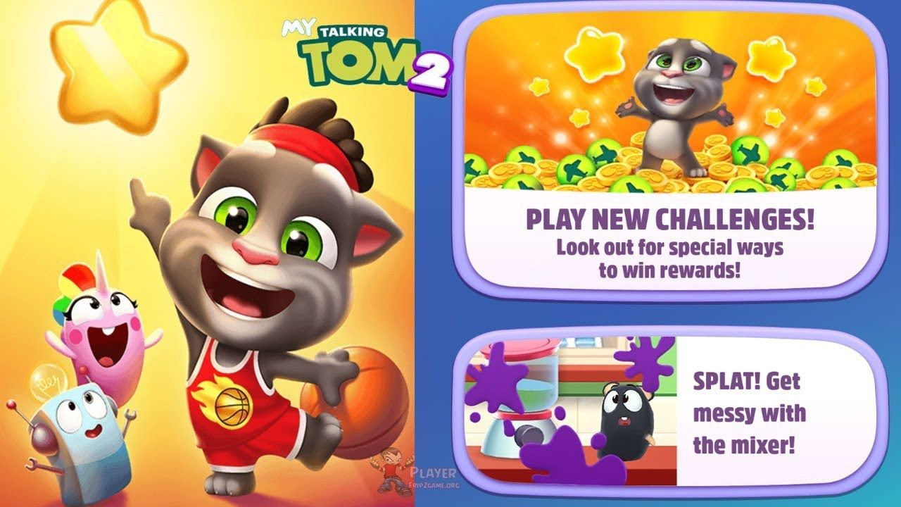 My Talking Tom 2 New Update 2019 Play New Challenges Android Ios Gameplay My Talking Tom Talking Tom Challenges
