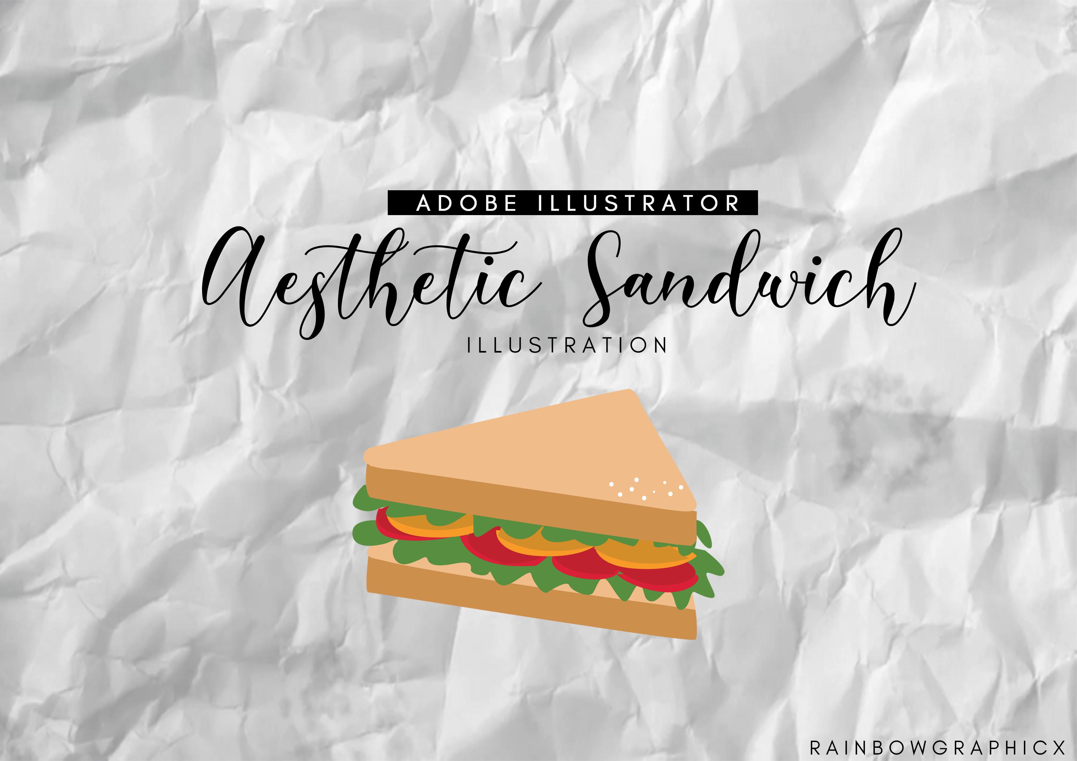 Aesthetic Sandwich Illustration Graphic By Rainbowgraphicx Creative Fabrica