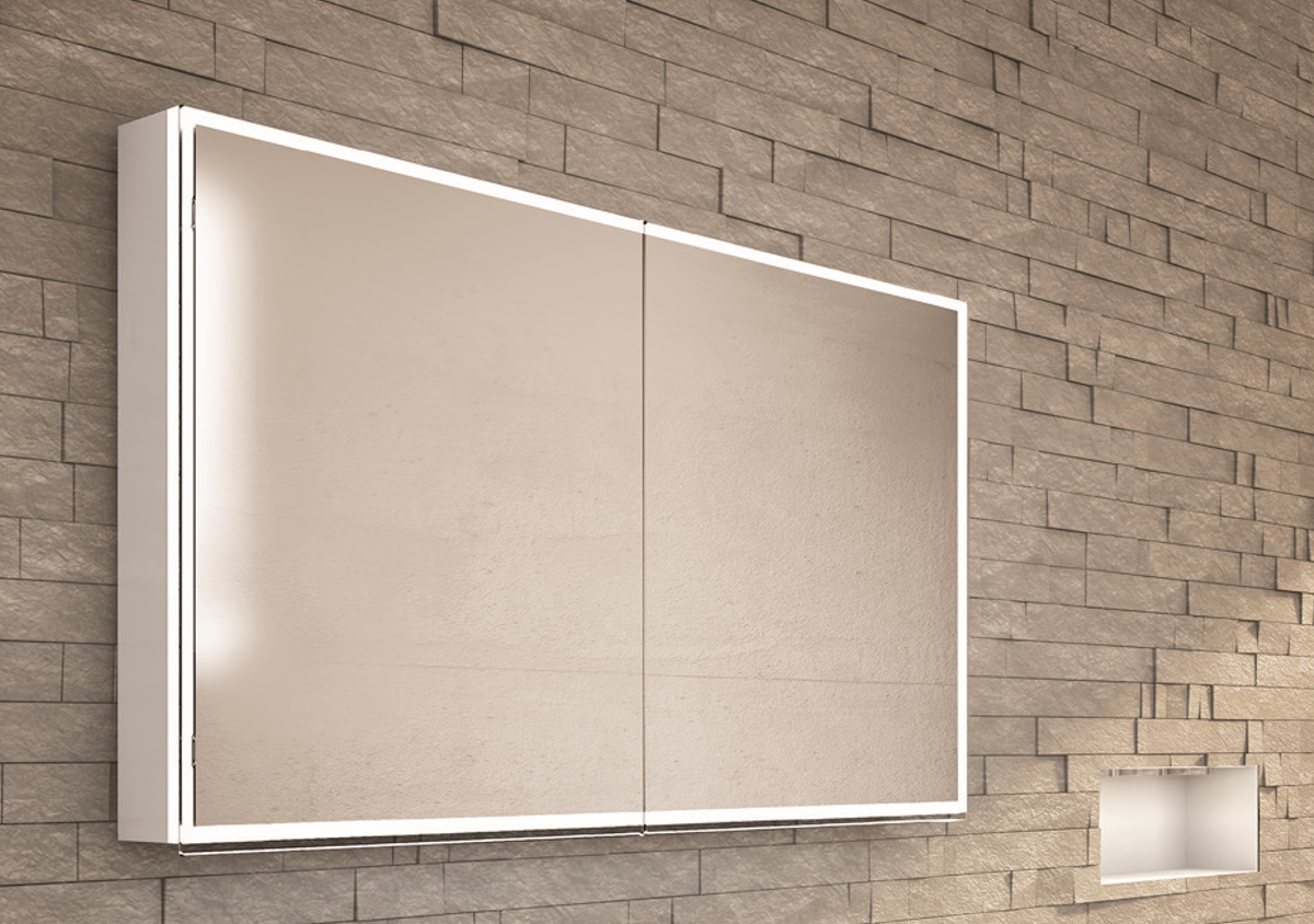 Ein Hingucker Mit Rundum Beleuchtung Spiegelschrank Beleuchtung Badezimmer Spiegelschrank
