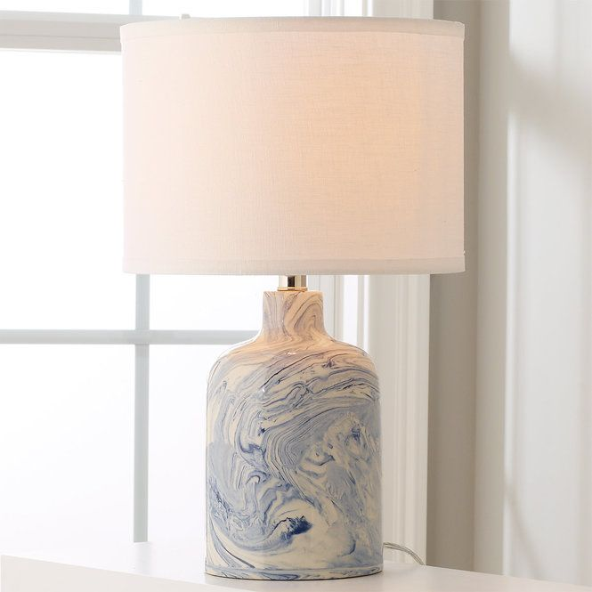 Check out indigo ceramic swirl table lamp wide from shades of light each and every one of these handcrafted table lamps will be a unique delight