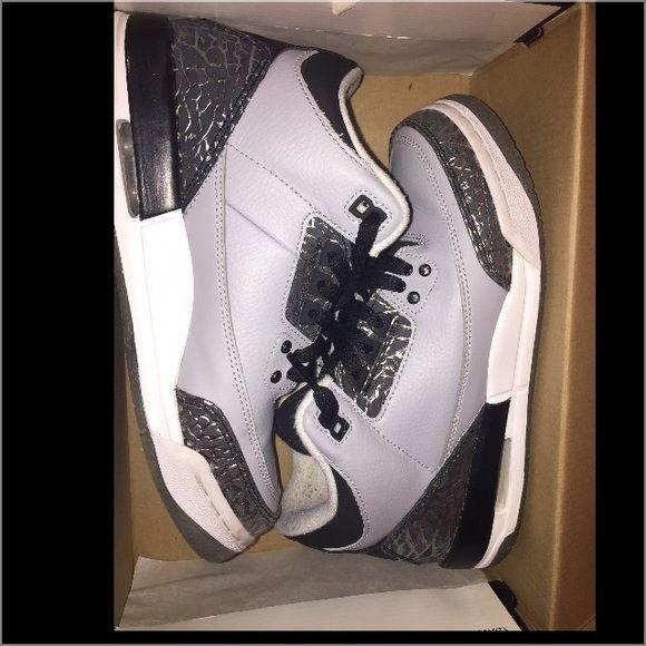 Jordan's 3 Silver black & grey Jordan's 3 worn a couple times Shoes Sneakers