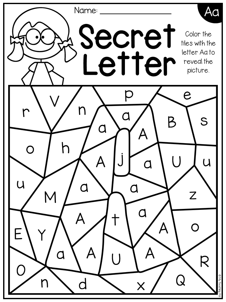 Alphabet Worksheets - Secret Letters - Distance Learning Alphabet  Worksheets, Alphabet Preschool, Alphabet Activities Preschool