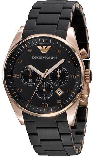 c024ff3a527 3. Armani Chronograph Bracelet Black Dial Men s Watch – AR5905