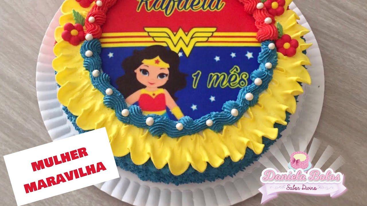 Live No Grupo Bolo Mulher Maravilha C Papel Arroz Especial E