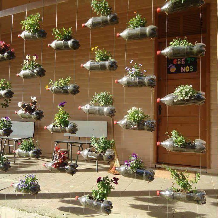 ideas para reciclar botellas y tener un huerto en casa ecovida jardineco ecoideas