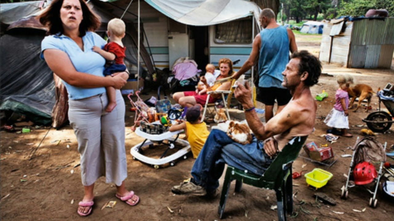 Image result for images of white people in slums