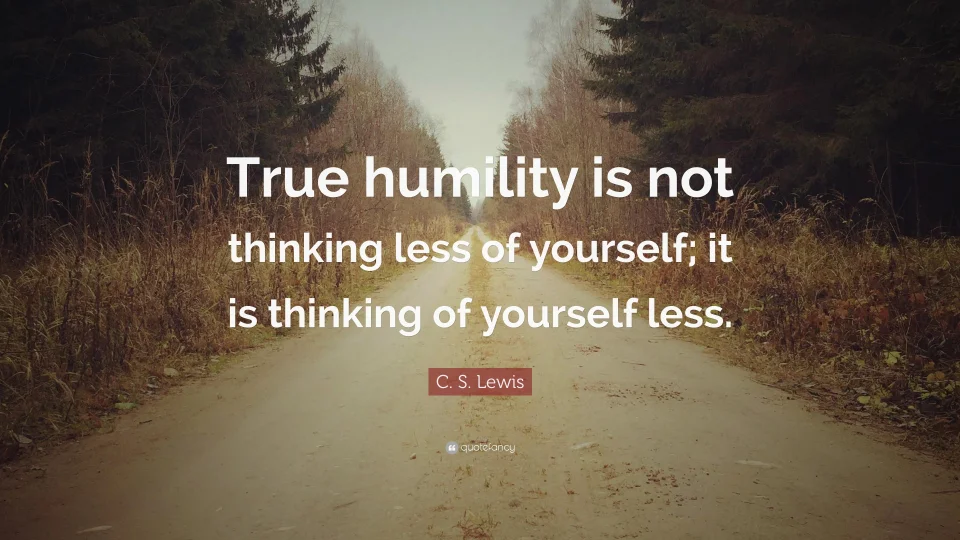 On Humility and Confidence