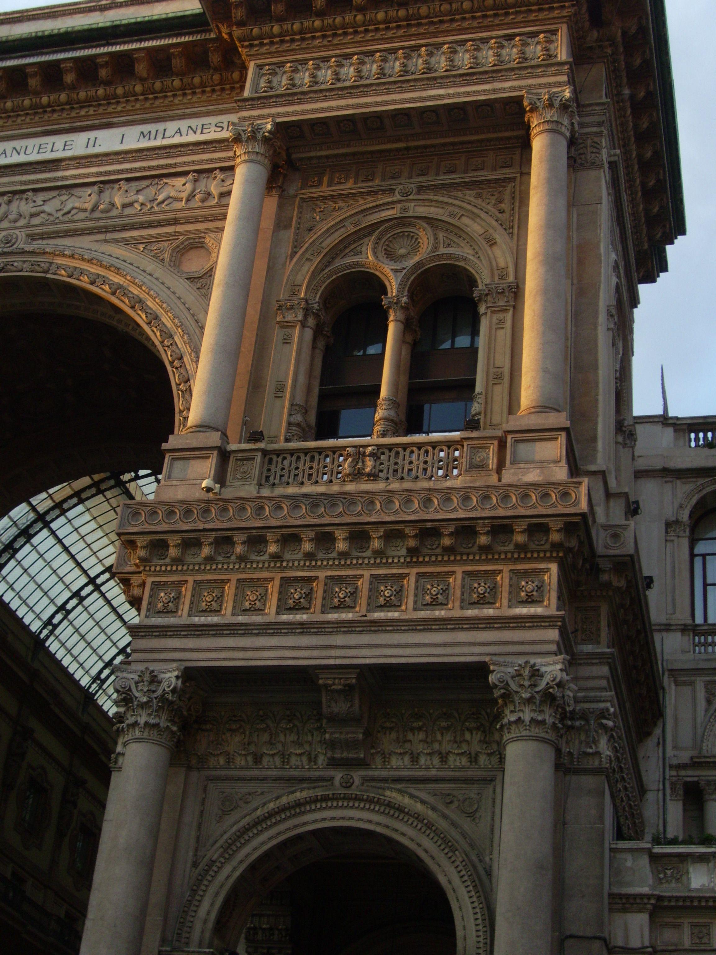 balcony window at Il Duomo - Milan, Italy