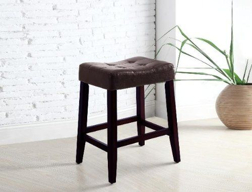 2 24 Saddle Back Espresso Bar Stools Home Bar Furniture Bar Stools Furniture