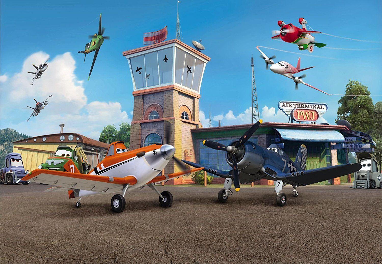 ✈ Pilotenzimmer: Kindertapete Fototapete PLANES TERMINAL 368x254 ...