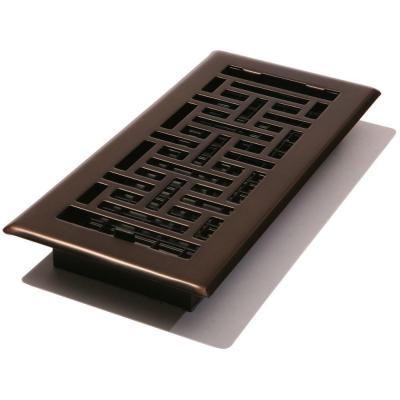 Decor Grates 4 In X 10 In Steel Floor Register Oil Rubbed Bronze Ajh410 Rb The Home Depot Floor Registers Oil Rubbed Bronze Oriental Design