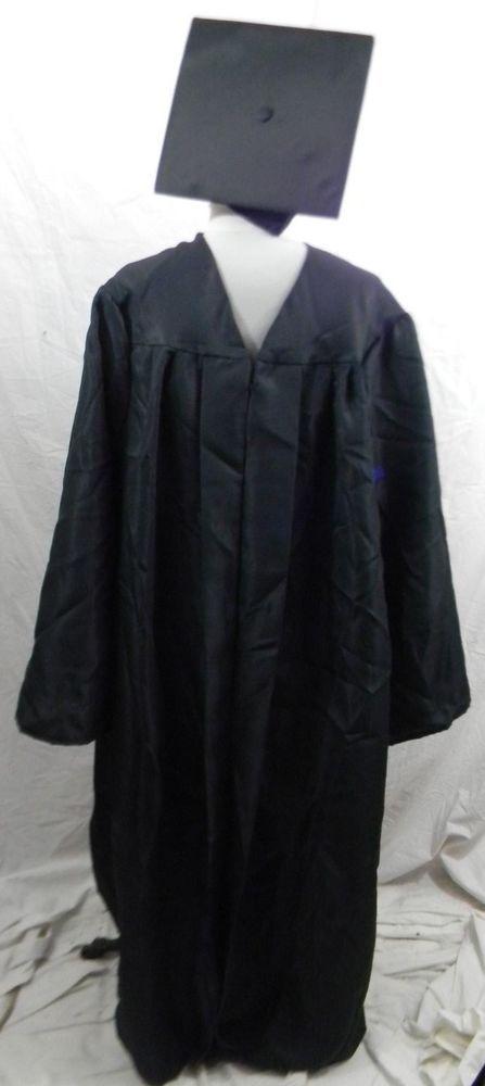 Jostens Black Graduation Gown & Cap 5\' 10\
