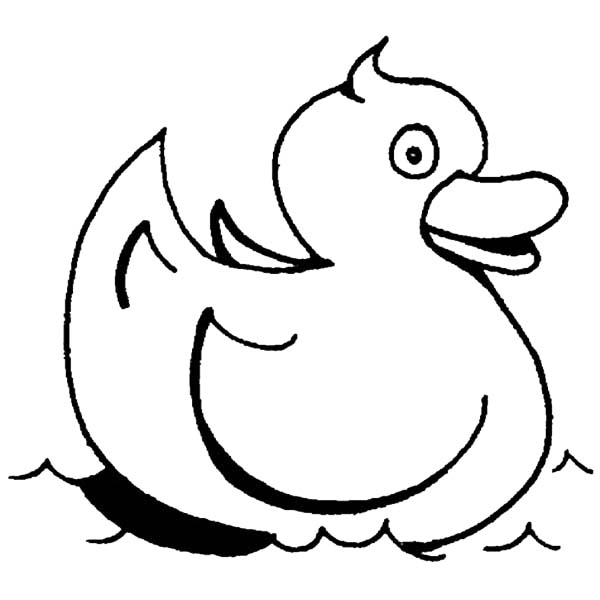 Rubber Ducky Swimming Coloring Page : Coloring Sky di 2020