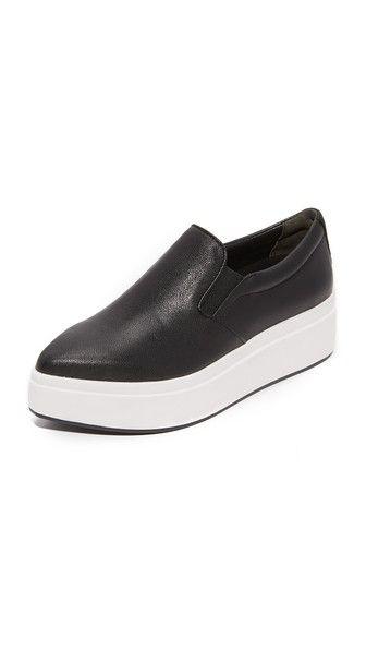 Dkny Trey Platform Slip On Sneakers In