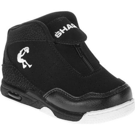 check out a30a6 6d98e Shaq Toddler Boy s Zipper Basketball Shoe, Black