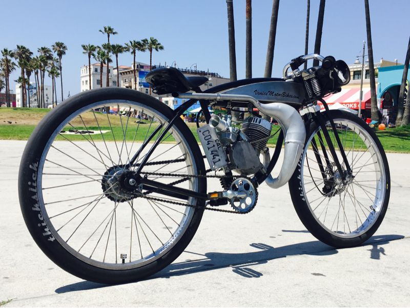 1952 Schwinn Motorized Bicycle Board Track Racer Built By Venice