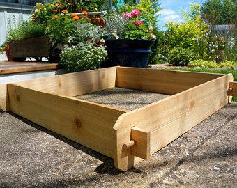 3x3 Cedar Flower Bed, Cedar Planter, Vegetable Garden Box Outdoor Planter  Large Planter Herb