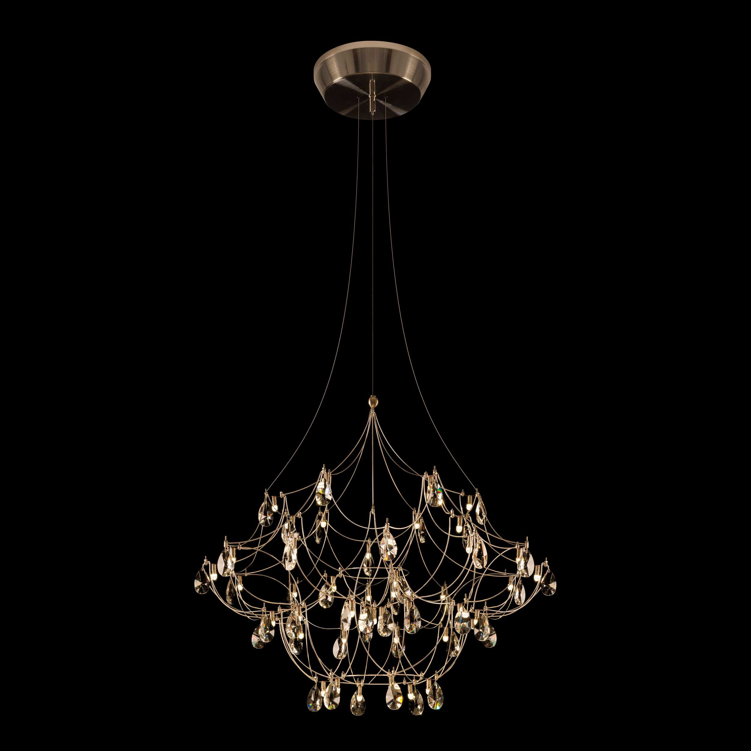 Crystal Galaxy Chandelier By Edge Lighting Cryga24 12 K1 Sn Chandelier Edge Lighting Hanging Crystals