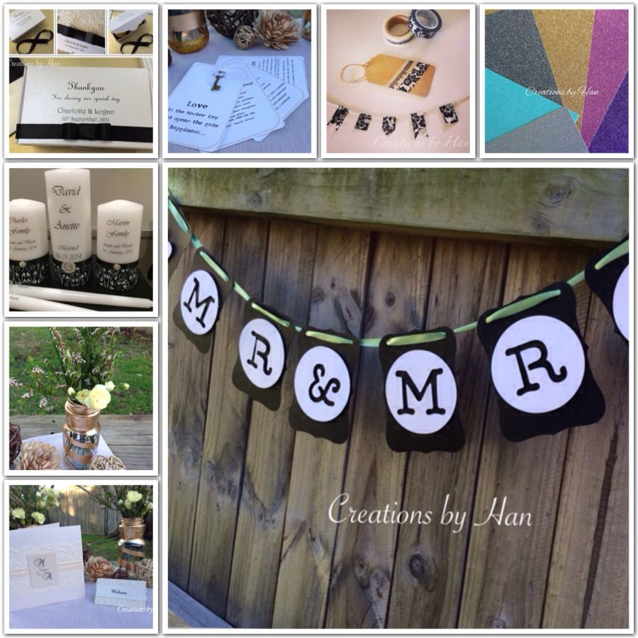 Wedding inspiration- all items available from Creations by Han