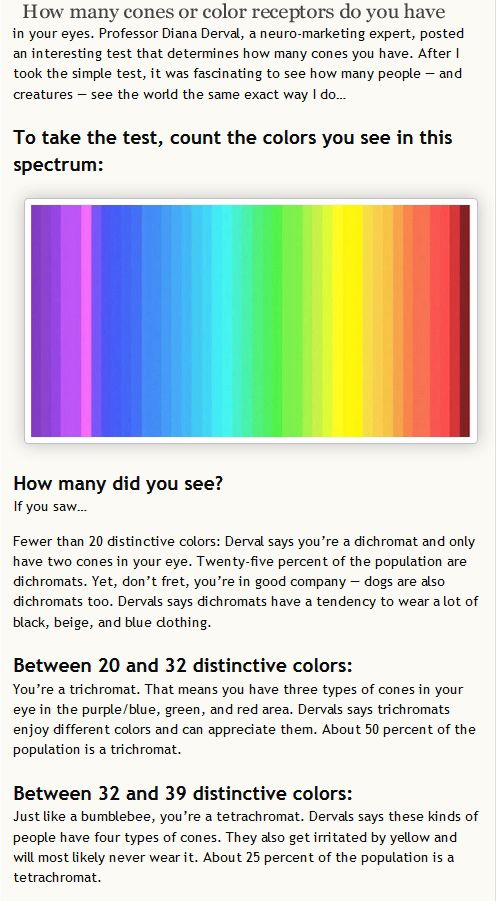 This Test Is Fake Computer Screens Can T Display Enough Colors For You To Actually See The Tetrochromatic