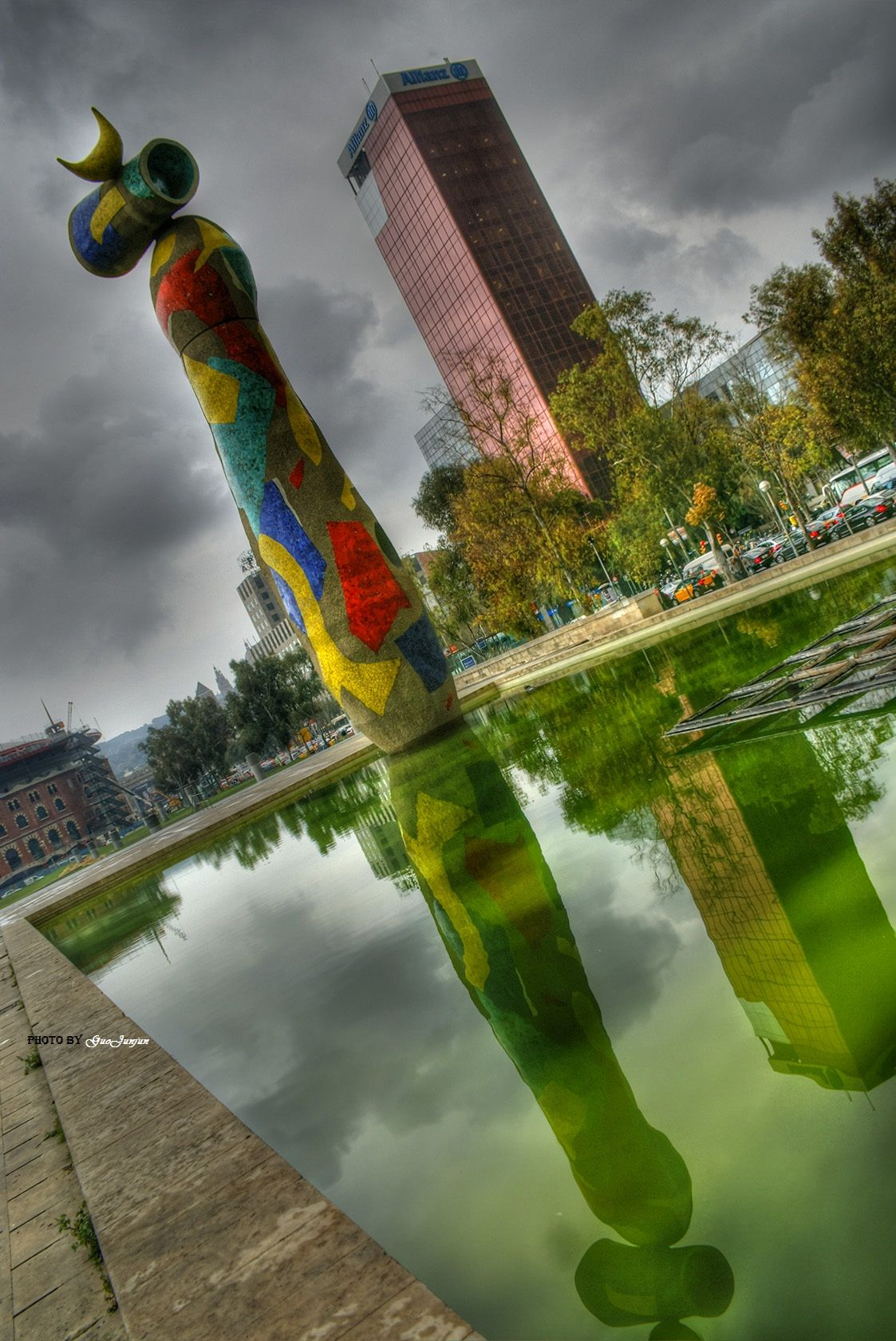 Woman and Bird (Catalan: Dona i ocell) is a 22-metre high sculpture by Joan Miró located in the Parc Joan Miró in Barcelona