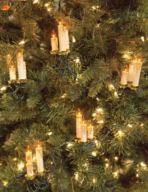 How To String Lights On A Christmas Tree Magnificent Old World Candle Garland  Candle String Lights Christmas Tree 2018