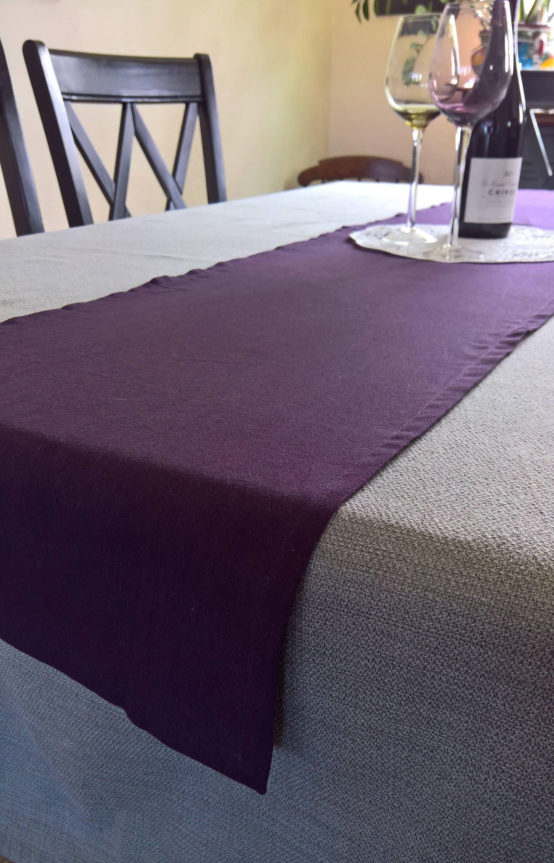 Attirant Purple Table Runner, Purple Linen Table Runner, Purple Table Decor, Purple  Buffet Runner