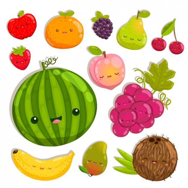 Baixe Frutas Coloridas Felizes Gratuitamente Desenhos De